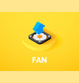 fan isometric icon isolated on color background vector image