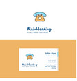 flat telephone logo and visiting card template vector image