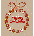Gingerbread Christmas Design vector image