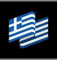 greece flag isolated greek ribbon banner state vector image vector image
