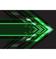 green light arrow geometric direction on dark