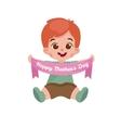 greeting cart baby boy Happy vector image vector image