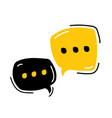 hand drawn dialog speech bubbles on white vector image