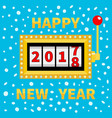 happy new year 2017 changing for 2018 slot vector image