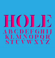 hole - display stencil serif antique font vector image