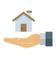 home in hand flat icon business and finance buy vector image