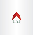 house logo real estate symbol element vector image vector image
