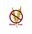 icon gluten free prohibition sign spikes of vector image