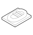 Inflatable boat icon outline style vector image vector image
