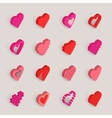 isometric hearts icons set vector image vector image