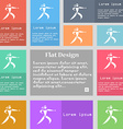 Karate kick icon sign Set of multicolored buttons vector image vector image
