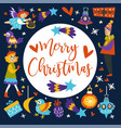 merry christmas winter holiday greeting and vector image vector image