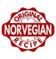 original norvegian recipe grunge rubber stamp vector image vector image