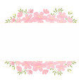 pink cherry blossom flowers tag with copy space vector image