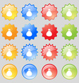 plastic spray of water icon sign Big set of 16 vector image vector image