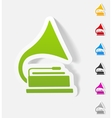 realistic design element gramophone vector image