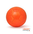 Realistic orange soccer ball vector image vector image