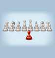 red pawn and white vector image vector image