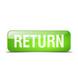 return green square 3d realistic isolated web vector image vector image