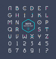 rounded font alphabet with dots effect vector image