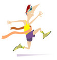 running man winner ribbon isolated vector image