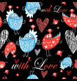 seamless jolly pattern with lovers monsters vector image vector image