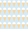 seamless pattern with ice cream art vector image vector image