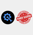 service tools icon and scratched power vector image vector image