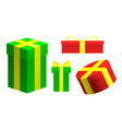 set of colored holiday christmas gifts vector image vector image