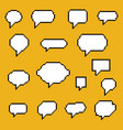 set pixel art speech bubbles vector image