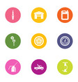 shed icons set flat style vector image vector image