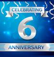 six years anniversary celebration design confetti