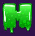 slime font type letter h latin alphabet green vector image vector image