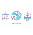 sports betting concept icon vector image