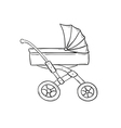 stroller vector image vector image