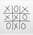 tic tac toe game hand drawn competition on vector image