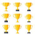 trophy cup set vector image vector image