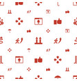 up icons pattern seamless white background vector image vector image