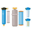 water filtration supply set isolated on white vector image