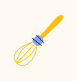 whisk or beater cartoon doodle stock icon in flat vector image