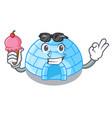 with ice cream cartoon dome igloo ice house snow vector image