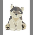 wolf stuffed toy vector image vector image