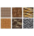 wood herringbone floor tiles pattern seamless vector image vector image