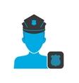 Policeman blue icon vector image