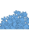 Set of Blue Pazzle Jigsaw Pattern vector image