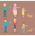Flat characters for animation vector image
