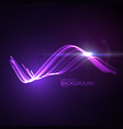 3d glowing neon digital wave particles vector image