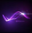 3d glowing neon digital wave particles vector image