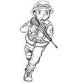 A sketch of a soldier vector image vector image