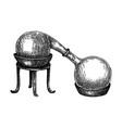 alchemy laboratory equipment sketch magic vector image
